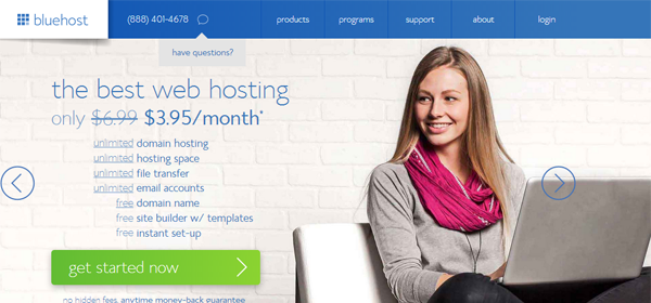 bluehost 3.95 promo