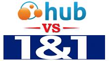 webhostinghub vs 1and1