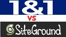 siteground vs 1and1