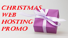 christmas web hosting promo