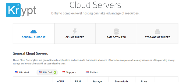 krypt cloud server