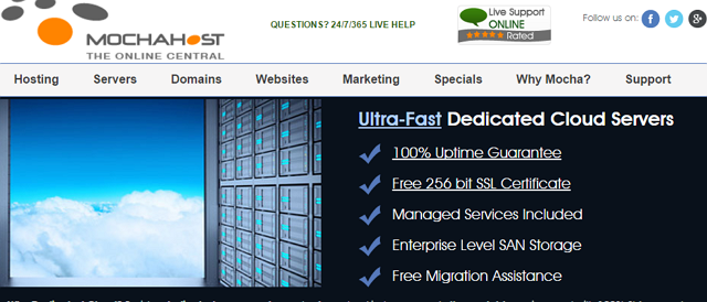 MochaHost Dedicated Cloud Server Review