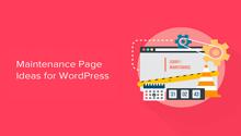 maintenance page WordPress